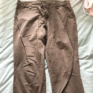 Green khaki pants from The Gap